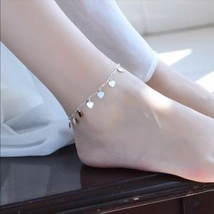 COPY - Sterling Silver 925 Heart 💓 Anklet Chain